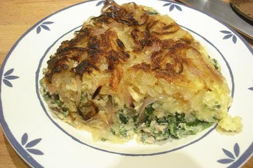 Tortilla de patatas y espinacas (Italia)