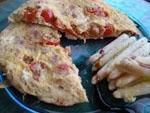 Tortilla de Tomates Cherry y Albahaca.