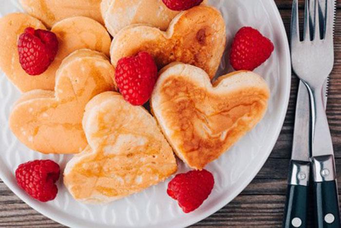 Tortitas con Forma de Corazón