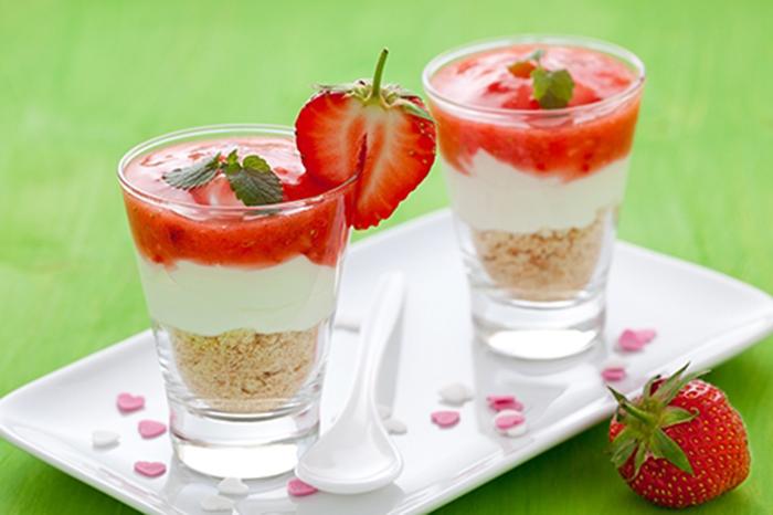 Trifle de Mascarpone y Fresas