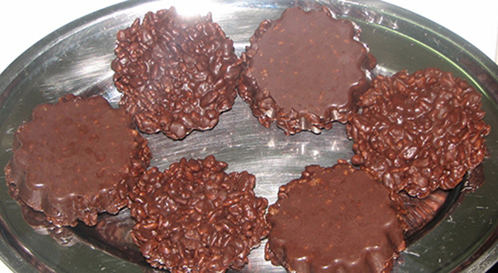 Turron de Chocolate y Arroz Inflado (Thermomix).