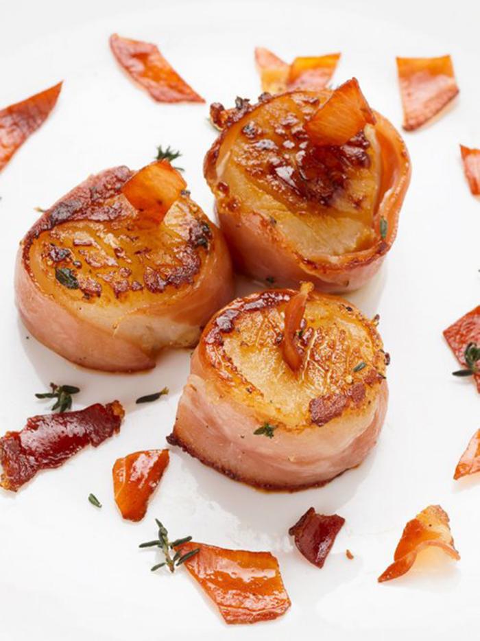 Vieiras Envueltas en Bacon