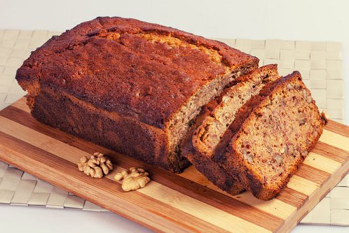 Walnut Banana Bread o Pan de Plátano