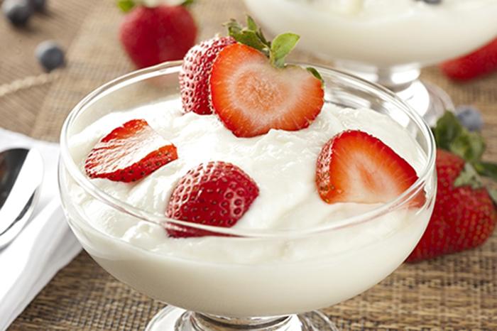Yogur Griego con Fresas